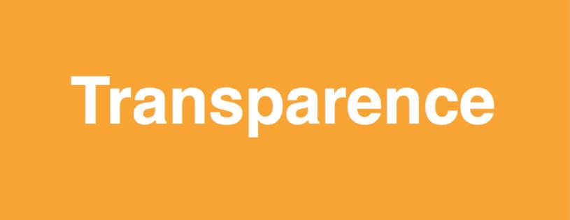 Transparence, un mot à utiliser avec prudence