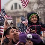La foule lors de l'investiture de Barack Obama, le 23 janvier 2013