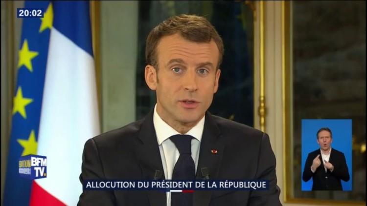 Allocution d'E. Macron : 57% des Français ne l'ont pas trouvé convaincant