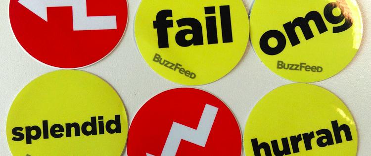 Des autocollants promotionnels Buzzfeed