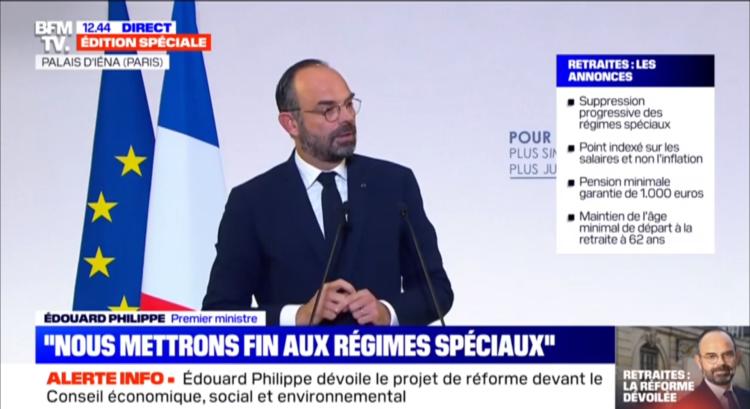Les Français partagés sur la réforme des retraites annoncée par E. Philippe