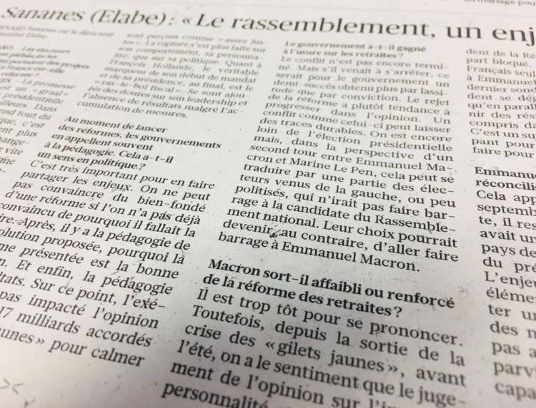 """B. Sananes dans Le Figaro : """"Le rassemblement, un enjeu clé"""""""