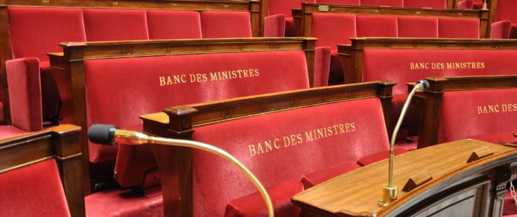 Banc des ministres au palais bourbon