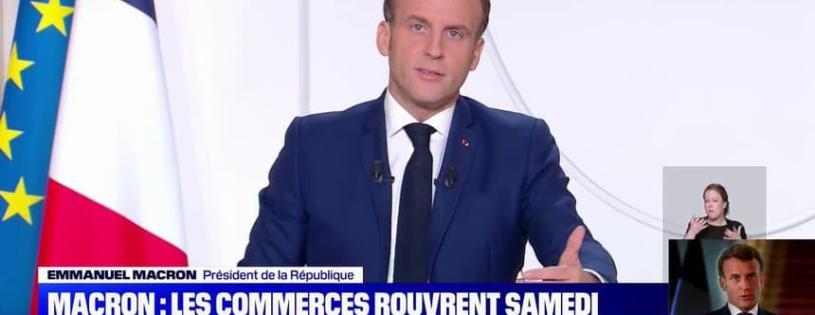 Allocution E. Macron : 64% approuvent les mesures annoncées